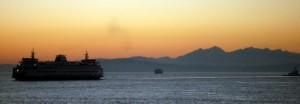Coucher de soleil sur Puget sound