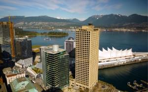 Canada place et West Vancouver au loin